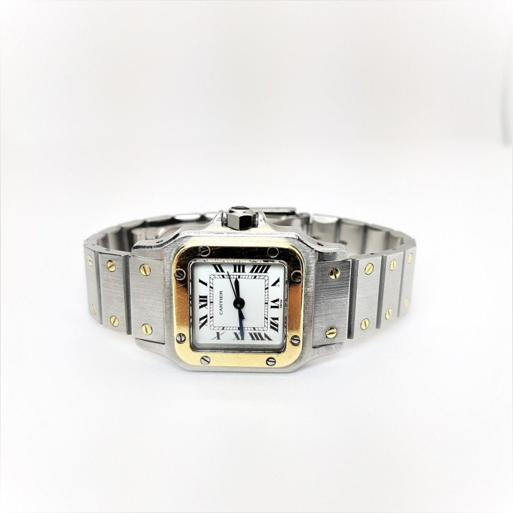 Cartier Santos Automatic 18K Gold Stainless Steel Watch