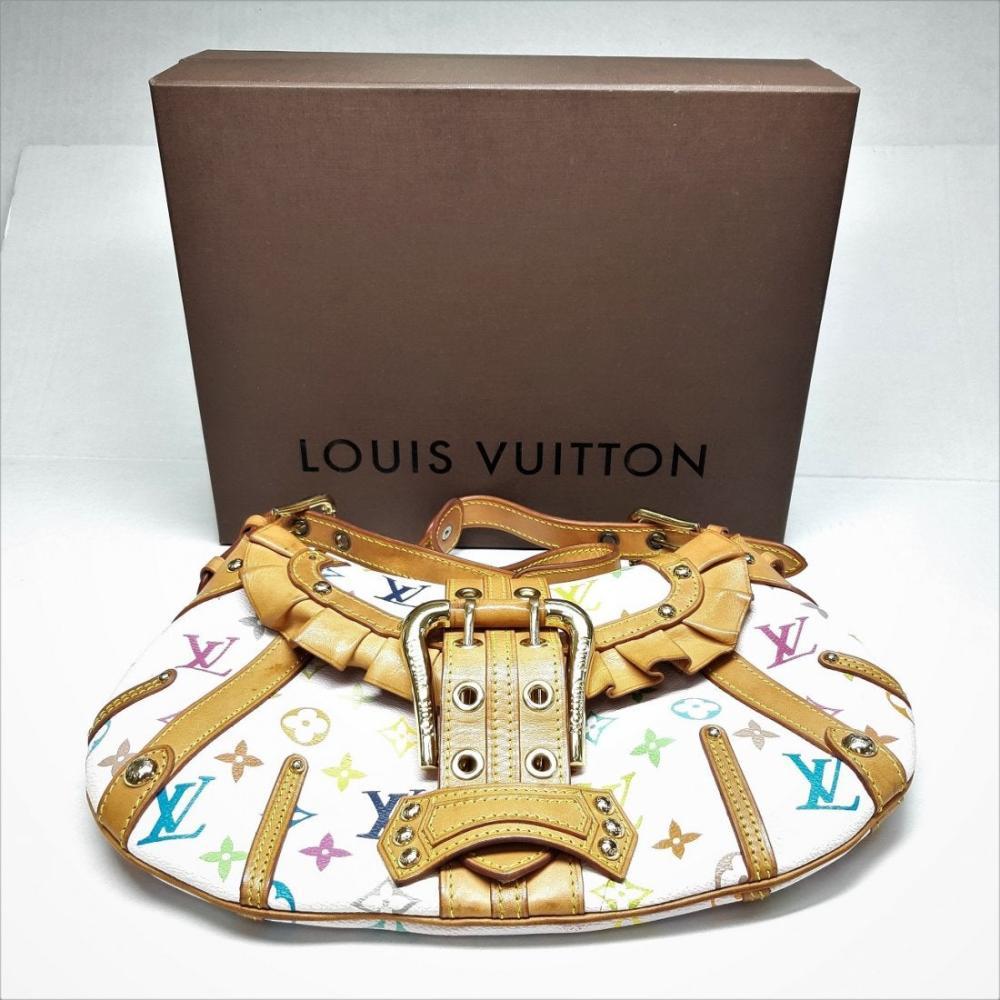 Louis Vuitton White Monogram Multicolore Leonor Bag Box