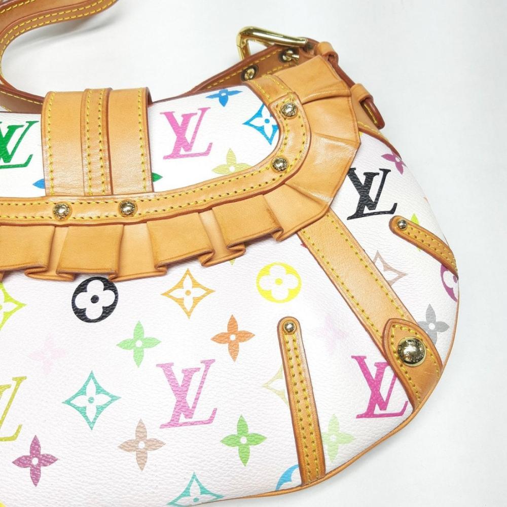 Lot 173: Louis Vuitton White Monogram Multicolore Leonor Bag Box