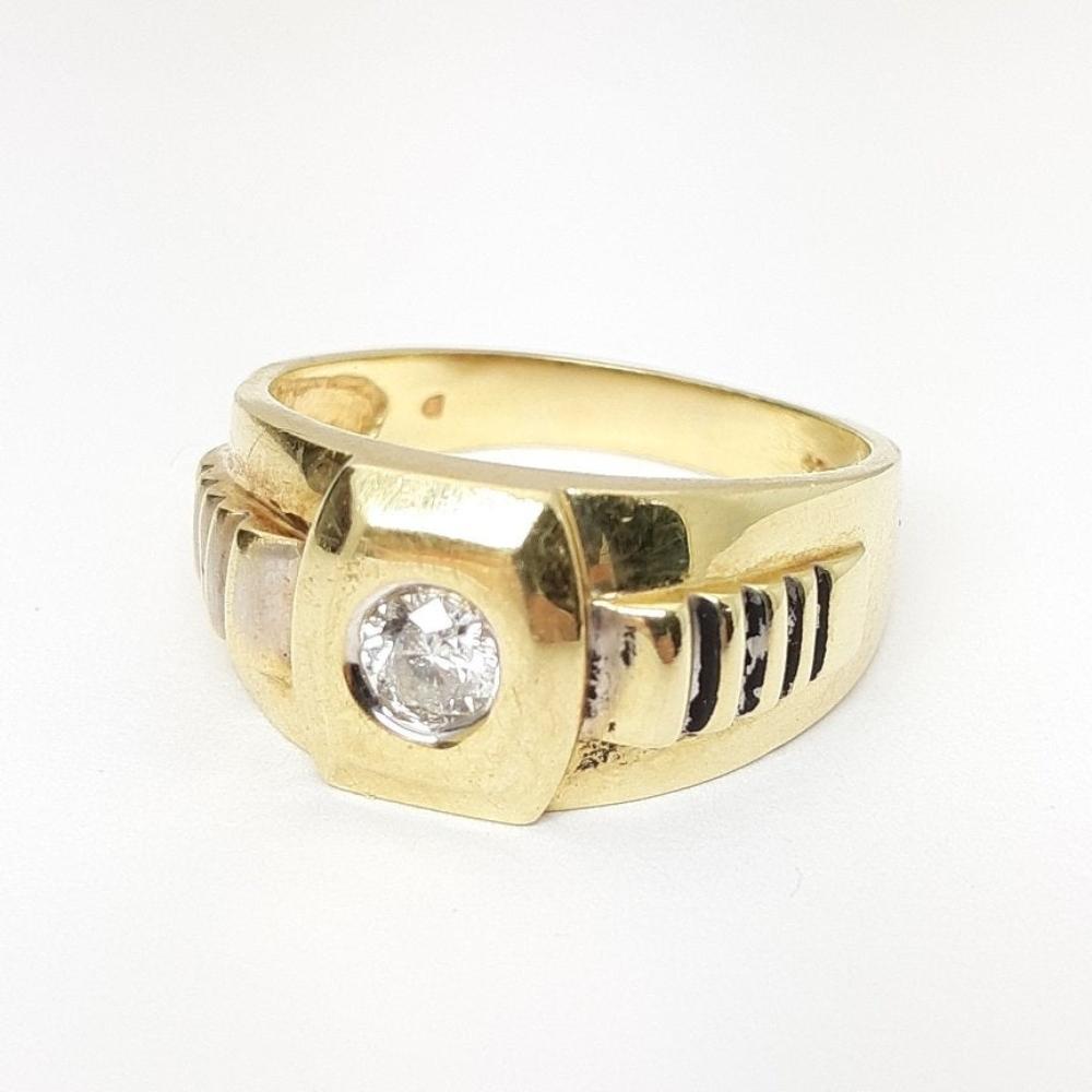 Lot 200: Mens Rolex Style 10k Gold .60 Carat Diamond Ring Sz. 12