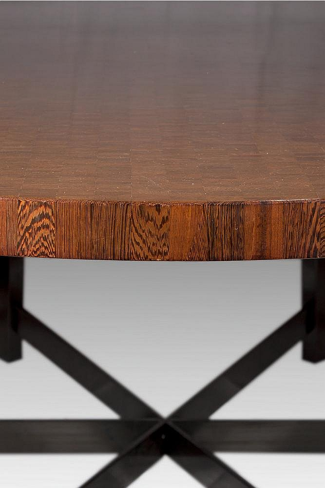 Jules WABBES (1919  1974) Table en bois (de boutwengé), mé