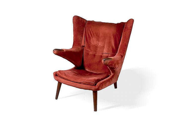 hans wegner 1914 2007 fauteuil mod le ap19 dit papa bear a. Black Bedroom Furniture Sets. Home Design Ideas
