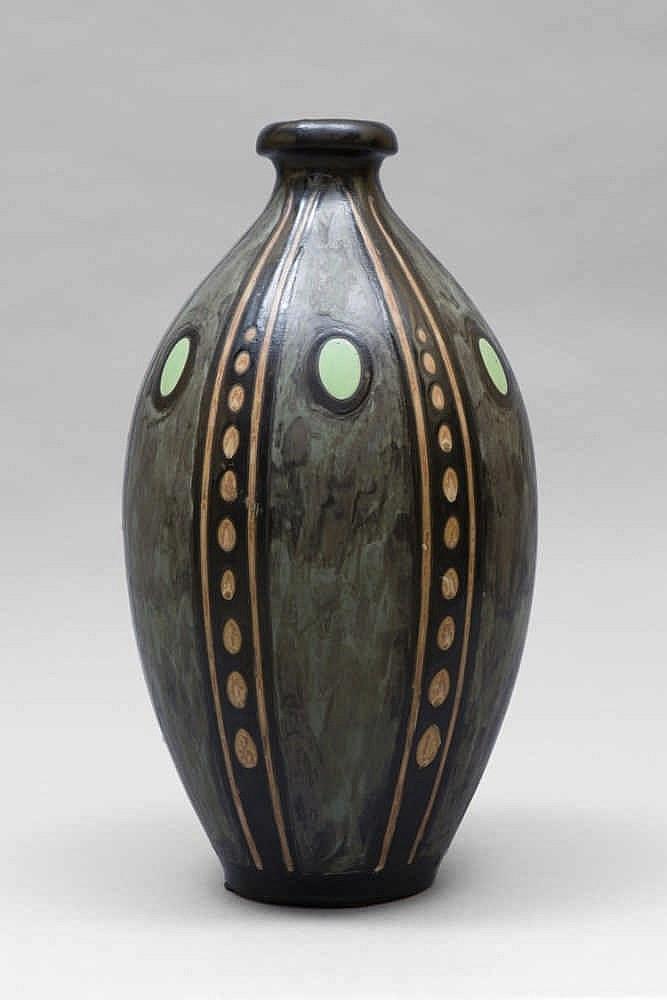 charles catteau 1880 1966 et keramis rare haut vase en g. Black Bedroom Furniture Sets. Home Design Ideas