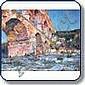 Sous les arches du Pont du Gard Huile sur toile 65, Agricol Louis Montagné, Click for value