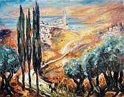 Moshe Matus 1908-1958 (Polish) Safed landscape oil