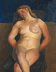 Andor BASCH (Hongrie 1885-1944) Le modèle (vers