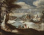 Attribué à Daniel van HEIL (1604 - 1662) Scène