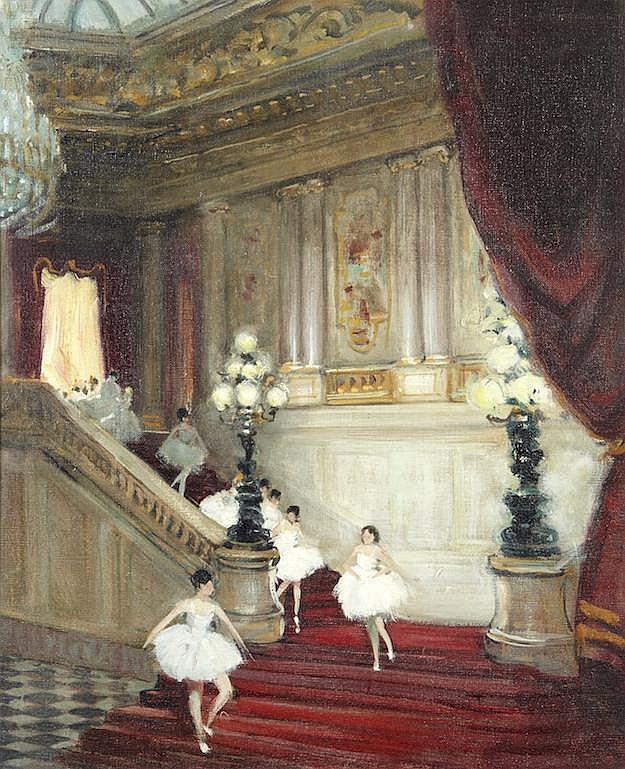 Jules René HERVE (Langres 1887-1981)   Ballerines de l'Opéra
