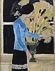 André BRASILIER (Né en 1929)   Femme en bleu, ANDRE BRASILIER, Click for value
