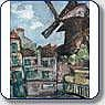Attribué à Maurice HENSEL (1890 - ?) Le Moulin de