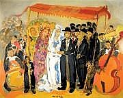 Mane Katz 1894-1962 (Russian, French) Wedding oil