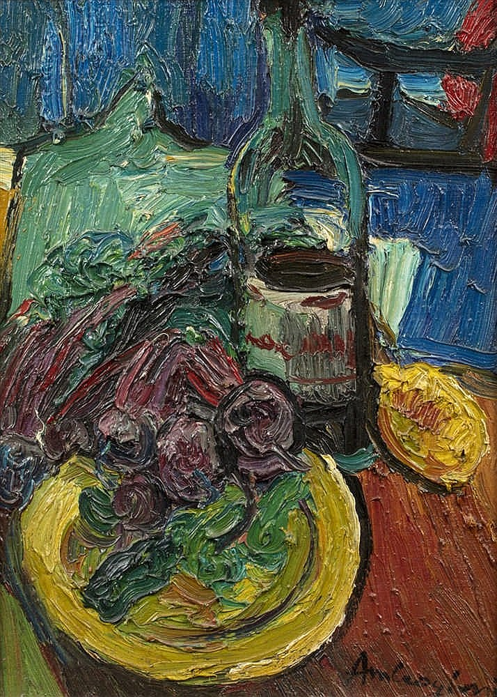 Sold Price: Pierre AMBROGIANI (Ajaccio 1907 - Allauch 1985) - Composition à  la bouteille - March 3, 0118 2:00 PM CET