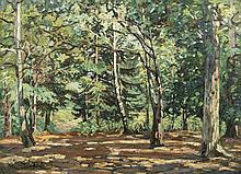 Emmanuel de la VILLEON (Fougères 1858 - Paris 1944) - Le bosquet de Bel Air, 1898