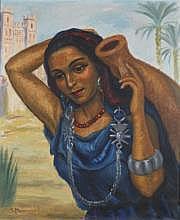Solange MONVOISIN (1911-1985) JEUNE BERBÈRE À LA