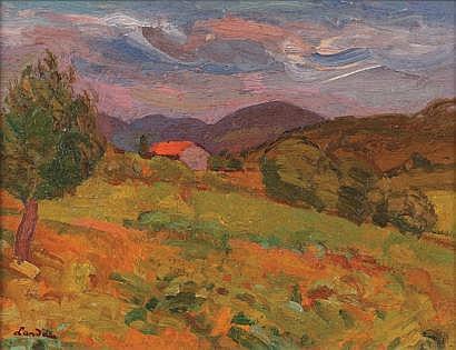 Sigmund LANDAU (Lodz 1898-France 1962) Paysage de