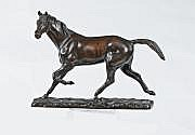 Irénée ROCHARD (1906 - 1984) Etalon au trot Bronze