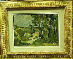 Henriette TIRMAN (1875-1952) Paysage Huile sur