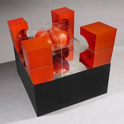 Piotr Kowalski (1927-2004) Cube n°6, 1967 Résine