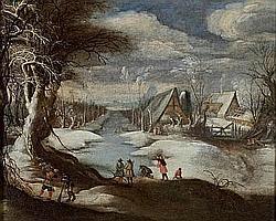 Attribué à Daniel van HEIL:(1604-1662) Scène