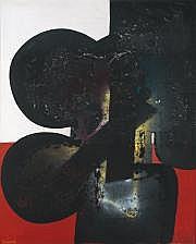 Ladislas KIJNO (né en 1921) Joconde 5, 1972 Huile