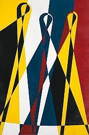 Yves LALOY (1920-1999) Composition géométrique,