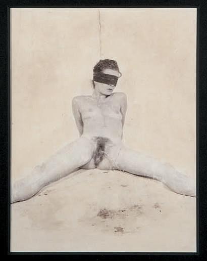 Lionel BAYOL-THEMINES (né en 1968) Pisseuse, 1996.