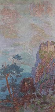 Sigismond JEANES (Nancy 1863 -) Paysage. Huile sur