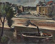 G. DAREL (Genève 1892-Genève 1943) La Seine. Huile