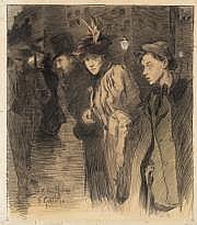 Fernand Louis GOTTLOB (Paris 1873-1935) Promenade