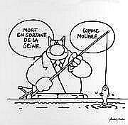 Philippe GELUCK Le Chat-comme Molière Acrylique