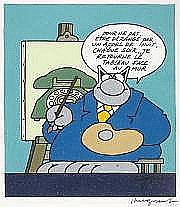 Philippe GELUCK Le Chat Agenda 1996. Encres de