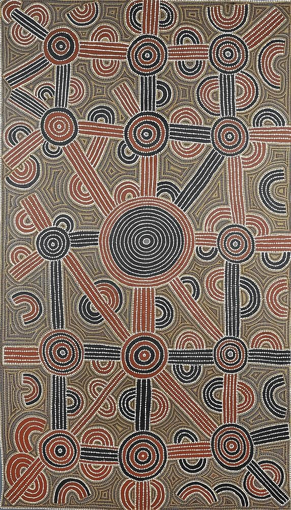 Lyndsay Bird Mpetyane (c; 1935 - ) Tjalkana Rock-Hole Ceremony Ac