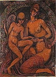 Gustave GILLOT (La Havre 1888-Paris 1965) Amour