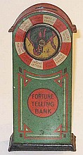 German tinplate Fortune Telling Bank