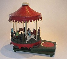 Wooden Folk Art toy Roundabout, circa 1920
