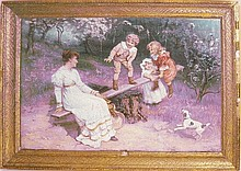 An Edwardian framed coloured print