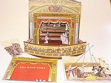 A Puffin 1948 cut-out toy theatre, 26cm x 28cm