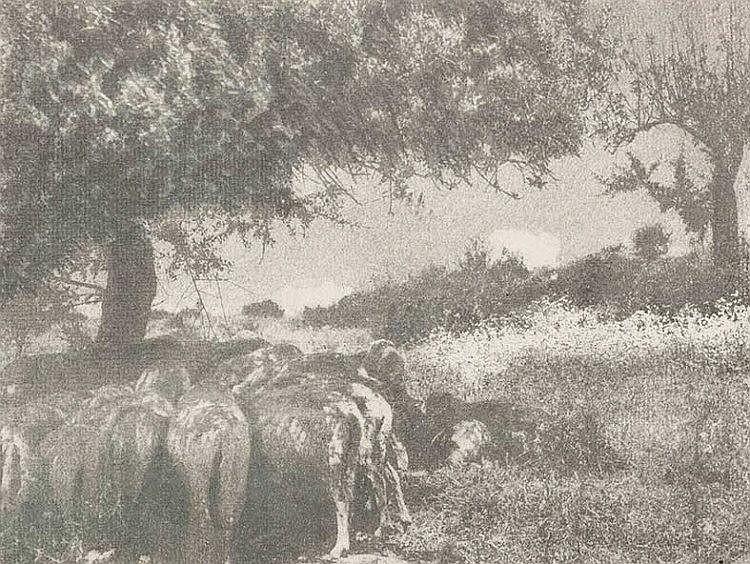 Domenico Riccardo Peretti Griva (1882-1962); Meriggio in Sardegna, ca. 1935
