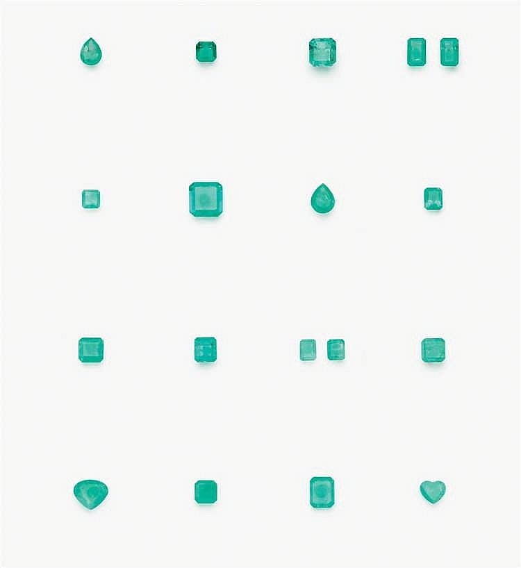Lotto di diciotto smeraldi Colombia