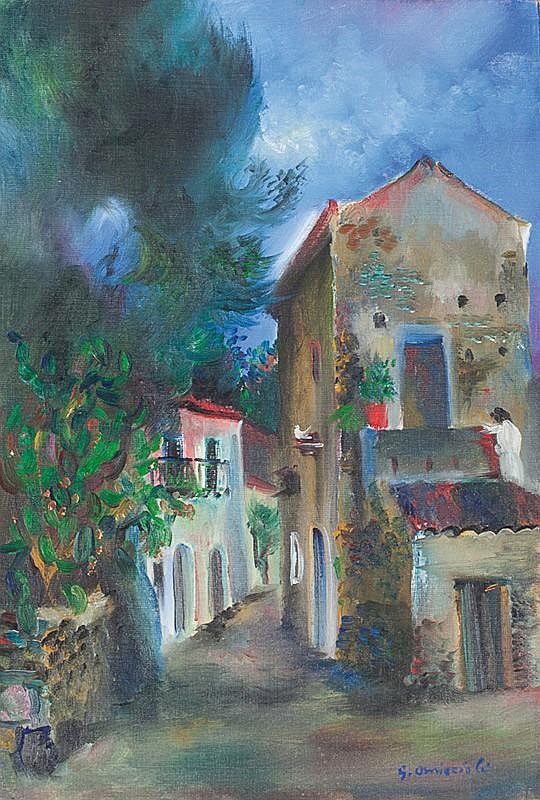 Giovanni Omiccioli (Roma, 1901 - 1975) Vicolo a