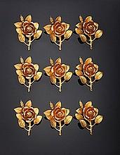 Set di 12 rose segnaposto, Candida Tupini