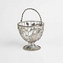 Cestino in argento, Londra 1859, proveniente dalla collezione Bulgari