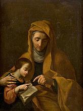 Felice Cignani (Bologna 1618 - Forlì 1724) Educazione della Vergine