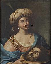 Attribuito a Alfonso Patanazzi (Urbino 1636 - 1720) Salomè con la testa del Battista