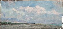 Marco Calderini (Torino 1850 - 1941) Paesaggio, 1901