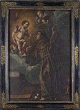 Scuola emiliana, secolo XVII Sant'Antonio da Padova a cui appare il Bambin Gesù