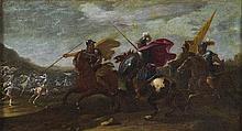 Vincent Adriaenssen, detto il Manciola o Mozzo d'Anversa (Antwerp 1595 - Roma 1675) Scontro di cavalieri