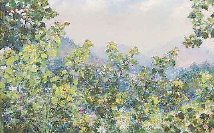 Elica Balla (Roma 1914 - 1993) Paesaggio primaverile