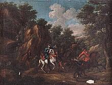 Cerchia di Christian Reder, detto Monsù Leandro (Lipsia 1661 - Roma 1729) Assalto di briganti