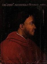 Scuola fiorentina, secolo XVI Ritratto del cardinale Giovanni Stefano Acciaioli